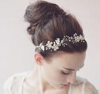 gold tiara - Vintage Hair Accessoies Bridal Crown Tiara Wedding Jewelry Crystal Rhinestone Pearl Bridesmaid Hair Band Headpieces Wedding Hair Clips