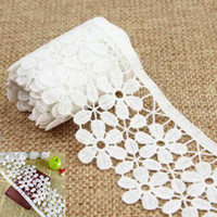 Wholesale 3 Yards White Flower Vintage Style Lace Ribbon Wedding Sewing Bridal Dress Craft