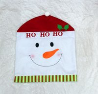 Wholesale 300pcs COLOR Santa Clause Red Hat christmas gift Chair Back Covers for Christmas Dinner Decor New Party H449