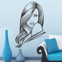 beauty spa packages - Sexy Girl Hair Spa Beauty Salon Wall Stickers Vinyl Barbershop Wall Decals Beauty Girls Home Decoration Wall Mural