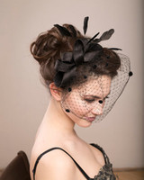 Wholesale 2015 European And American Bridal Hats Styling Head Birdcage For Women New Fascinator Hats Cheap Sinamay Church Hats Wedding Hats For Women
