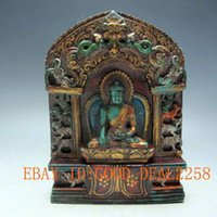 Wholesale Old Tibet Tibetan Turquoise Buddha Statue Good luck