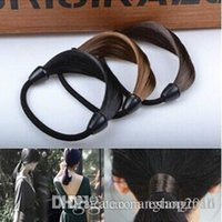Wholesale New Fashion Women Hair Rope Solid Synthetic Fiber Hairband Braid Headwear for Women