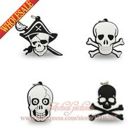 bead animal keychains - Sale Promotions Skull Pirates boys love PVC Pendant kid Accessories Fit for Keychains necklace Bracelets kids party Gift