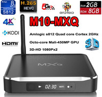 Wholesale MXQ Model Amlogic S812 Quad Core G G Metal TV BOX with Clock Android Kodi loaded K Smart TV Box M10