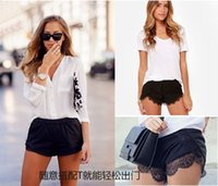 Wholesale 2015 Lin Edition women summer beachwear shorts lace Eyelashes hot pants England Style Fashion female Short Mini Spring Casual