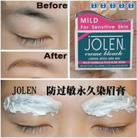 Cheap Wholesale-JOLEN Eyeborw Cream dyeing eye brow Permanent Pigment Shadow Bleach Hair Lightens Excess Dark Hair Regurlar MILD