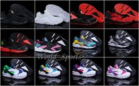 Wholesale Classic Black White Air Huarache Men Womens Running Shoe Black Red White Sneaker Breathable Huaraches Size US5