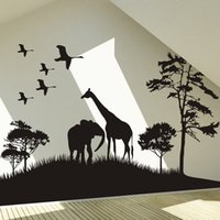 african grassland animals - The African grasslands Bedroom living room TV setting wall Animals natural scenery wall post