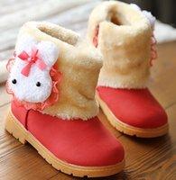 Wholesale girls boots new winter boots Rabbit head Princess Children s snow boots tendon out sole kids shoes size21