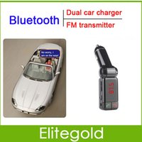Wholesale Bluetooth Car Charger LCD MP3 Player Kit FM Transmitter Dual USB Adapter For Smartphone Retail Package
