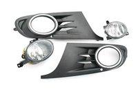 Cheap Front Fog Light & Grille Kit For VW Jetta Sport Wagon Golf MK6 Non GTI