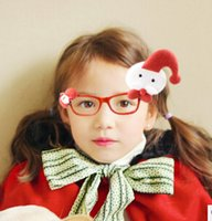 Wholesale Fashion Cute Children Eye Wear Christmas Glasses Without Lens Kids Girl Lovely Accessories Sunglasses Frames B1B7D4