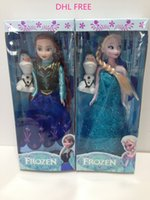 barbie dolls - DHL Models Girls frozen dolls kids Elsa Anna Olaf Barbie doll children barbie pal girl toys gift J102301