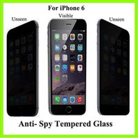 anti glare screen filter - 2015 new Privacy Filter Screen film privacy screen anti spy screen privacy filter screen protector for iphone plus S