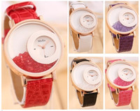 battery photo frame - Fashion photo frame heart Crystal charm leather watches women watches Geneva quartz watch a804