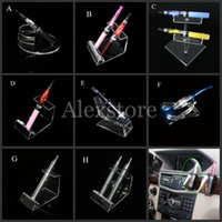 acrylic pen stands - Acrylic e cig display clear stand shelf holder vape car rack for vapor ego battery e pipe ecig mech mod mechanical e cigarette vaporizer pen