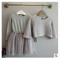 baby girl clothing boutiques - Girls Outfit Baby Girls Knit Dress Infant Outwear Girls Boutique Clothes Two Pieces Dresses Kids Knitting Long Sleeve Winter Outwear m936