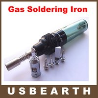Wholesale Free ship Hot sale Cordless Pen Shape Butane Gas Soldering Solder Iron Tool with free tips