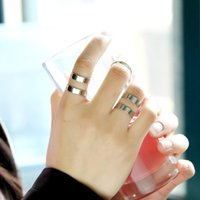 Wholesale New arrival contracted fashion Women s ring joints ring in set golden fashion and personality