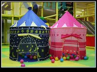 Cheap Indoor & Outdoor ChildrenTents Game House Baby Beach Tents Princess Prince Palace Kid Castle Indoor Toys Tent Christmas Gifts For Child QM
