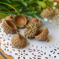 acorn caps - 20PCS Natural Acorn Caps for Glass Globe Bottles filler Stuffing the glass bottle