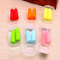 Wholesale Protable Sleep Earplugs Keeper Protector Snore Noise Reducer Pair Color Random