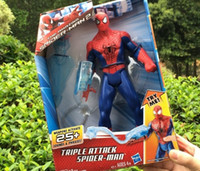 talking toy - Anime Figure Amazing Spider Man Movie Spiderman Toy CM Ultra Action Figure Toys With Retail Box Luminous talk Movies Hero Spiderman Toys