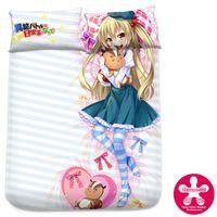 battle milk - Anime Inou Battle wa Nichijou kei no Naka de Milk Silk Mattress Cover Fitted Sheet cover bedspread counterpane bedding set