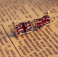 best vintage uk - 2014 Korean Fashion Earrings Vintage UK Flag Earrings Best Gift Stud Earrings XY E450