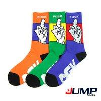 Cheap 1 Pair 2015 New Arrival dgk FUCK YOU Socks Cotton Men Sport Middle finger Socks Long Hip Hop Skate Socks With