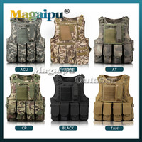 airsoft vest - Professional sales USMC Airsoft Tactical Military Molle Combat Assault Plate Carrier Vest Tactical vest Colors CS clothing