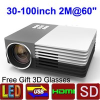lcd projector hd - Free gift D glasses new lm led video projector Home Theater D Cinema P HD HDMI USB Digital Multimedia LCD LED Mini proyector