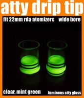 best mints - Drip Tip atty drip tip fit MM RDA atomizers luminous atty glass clear mint green wide bore best quality FJ276