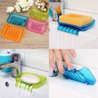Wholesale New Arrvial Clear Color Suction Draining Cup Holder Bathroom Shower Soap Dish Tray Storage Excellent Quality