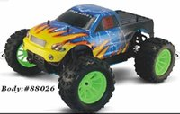 big scale rc trucks - DHL free HSP Nitro Powered Monster Truck th Scale WD racing rc car Off Road Pivot Ball Monster Truck