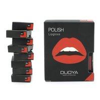 best cream blush - Best Price DUOYA Sexy Charming Lasting Moisturizing Lips Matte Lip Gloss Blush Cream Dual Purpose Waterproof Brand Lip Stick