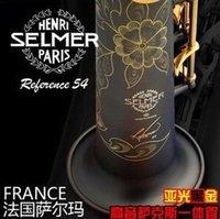 Wholesale EMS French Selmer B flat soprano Sax integral pipe matt black whistle sheet package mail