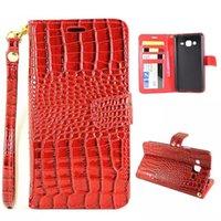 aligator leather - Luxury Crocodile Wallet Leather case Aligator ID Card Photo Stand Pouch Rope For Samsung Galaxy Z3 J3 Huawei Union Y538 Nokia Lumia skin