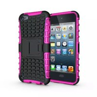 Wholesale For Ipod Touch G th G th Touch6 Touch5 Rugged Kickstand Spider Fashion Hard Heavy Duty Armor TPU Hard Case Shockproof Square Skin