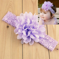 Wholesale 2015 Cute Lavender Light Purple Lace Flower Little Girl Hair Accessories Kids Accessories Beautiful Cheap Girls Head Pieces