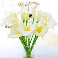 Белый декоративный цветок искусственный Калла Люкс Свадебные букеты Real сенсорный Калла цветок лилии Главная Свадебные украшения центральные