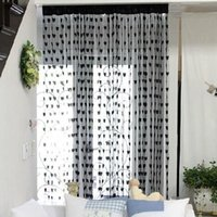 Wholesale Fashion Romantic Heart Shape Line Curtain for Partition Wall Vestibule Curtain Black