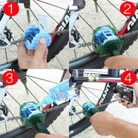 Wholesale pc Multifunction Bicycle MTB Cycling Bike Chain Wash Cleaner Quick Clean Tool Machine Scrubber Brushes Kits