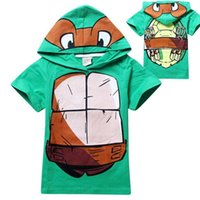 Wholesale New Fashion boys cartoon Teenage Mutant Ninja Turtles t shirts kids summer cotton hoodies t shirts children s leisure sports tees tops