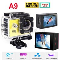 Wholesale Gopro Waterproof Sports Camera SJ4000 SJ5000 plus Style A9 HD Action Camera Diving P M quot View Mini DV DVR digital Camcorders