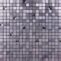 ash spot - AIA metal aluminum plate mosaic gray ash wood drilling self adhesive bar backdrop Spot