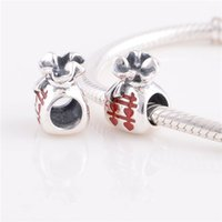 Wholesale Bead Charm Swarovski Crystal Silver Beads Chinese Happy Bag fit European Bracelets No YZ618