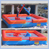 Wholesale New Inflatable Gladiator Joust Game with Free CE UL Blower Commercial Quality Giadiator Game for Events