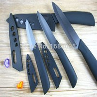 Wholesale 2015 New Arrival Hot Sale Black Blade Ceramic Knife Set Chefs Kitchen Knives inch Peeler covers Beautiful Gift order lt no track